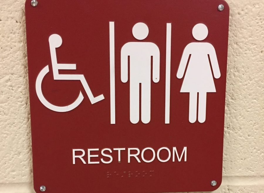 Although Glen Rock has gender neutral bathrooms such as the one picture, students are also able to use bathrooms of the gender with which they identify.