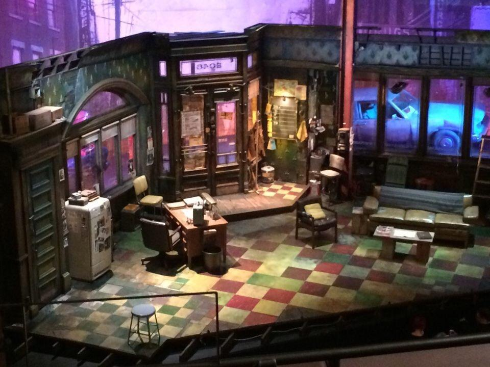 """The set of August Wilson's Jitney on Broadway. """"The set is really very evocative,"""" Metch- Ampel said. The set depicts the inside of the jitney station, run by a character named Becker."""