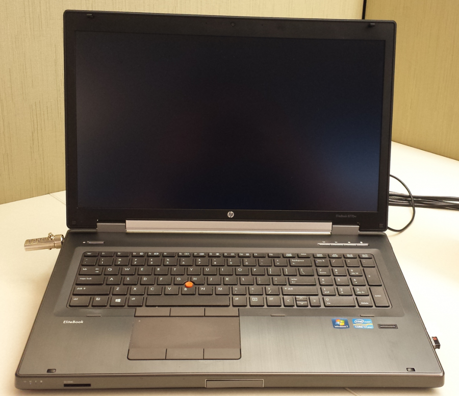 An HP EliteBook similar to the ones students will receive next year.