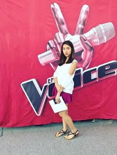 Gabriella Mangome poses for a photo  at her Voice audition. She auditioned for the show in July last year and saw it as an opportunity to advance her music career. Although she didn't make it onto the show, she has continued pursuing her love for music in hope of auditioning for other talent shows in the future.