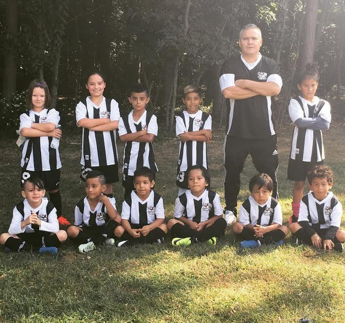 Diego is also one of the coaches of the developmental program. This was one of his FC Broncos team.