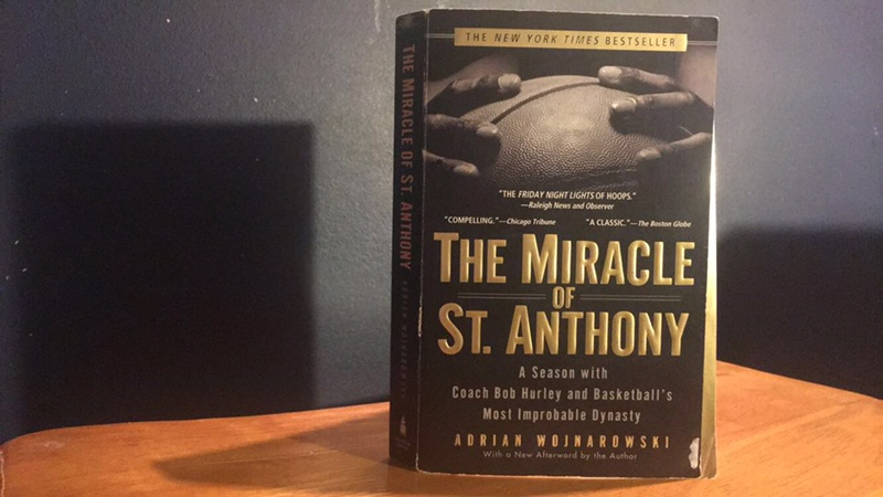All of Adrian Wojnarowski's hard work is now tangible in his book, The Miracle of St. Anthony. The book was published in 2005 after months of him learning about St. Anthony's high school basketball team.