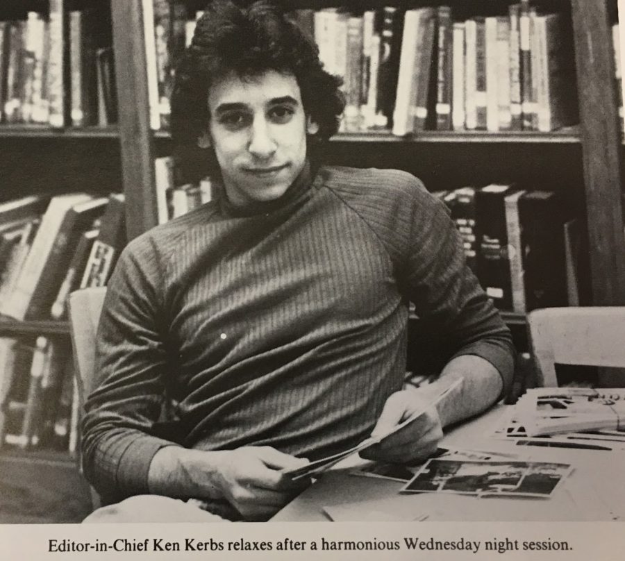 Ken Kerbs poses for a picture in The 1978 Glenconian Yearbook. Kerbs served as the photo editor for The Glen Echo and the Editor in Chief for The Glenconican.