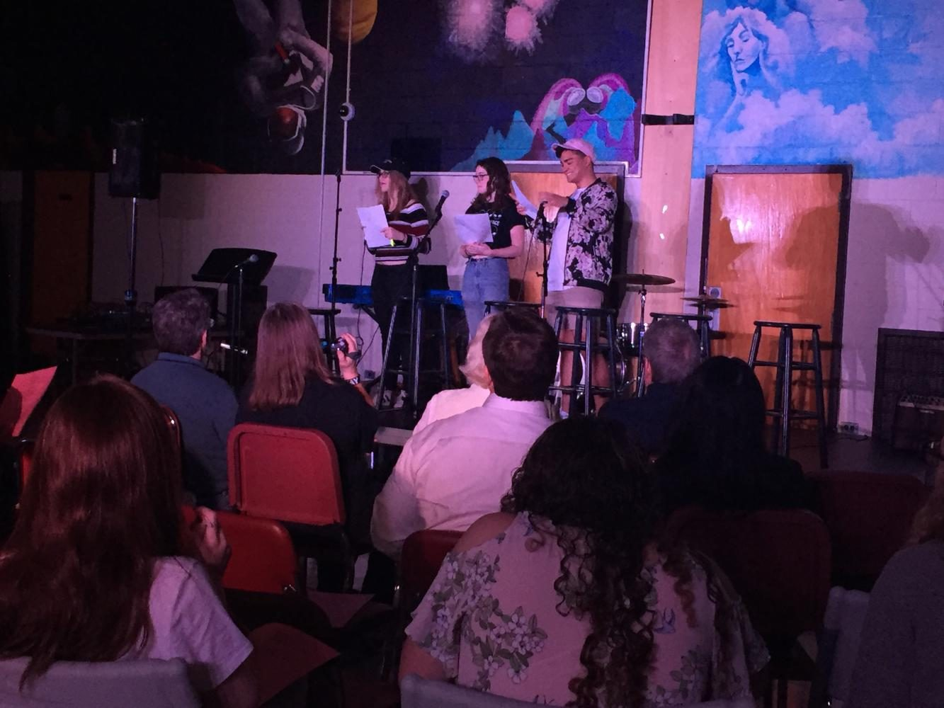 Megan+Stoddard%2C+Cami+Kaselow+and+Matt+Lacognata+host+Coffeehouse+42.