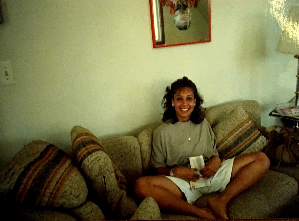 Pictured is Angela Gorini, who was Danny's high school girlfriend, during her senior year in 1988.