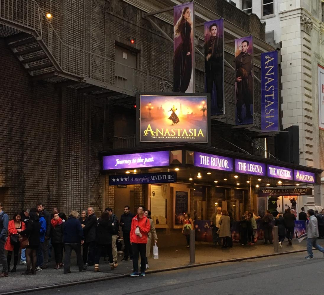 The brand new musical, Anastasia, is a must-see.