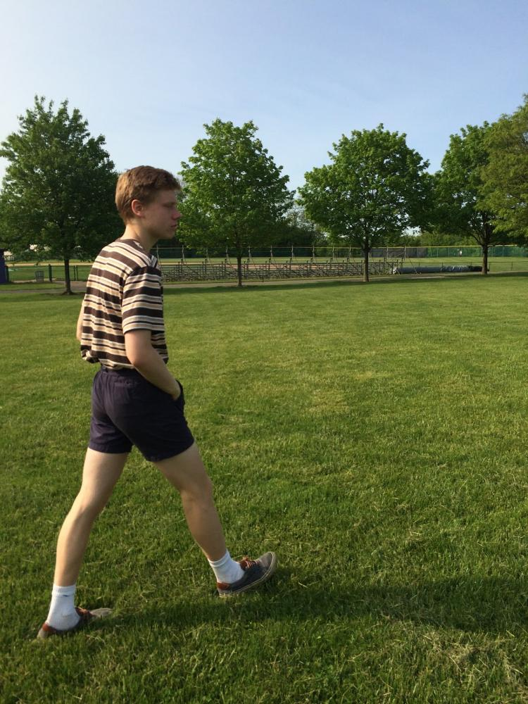 Quinn walks through Bergen Community College lawn during Teen Arts in 2016. He has loved art since elementary school, and attended Teen arts in 2015 as well.