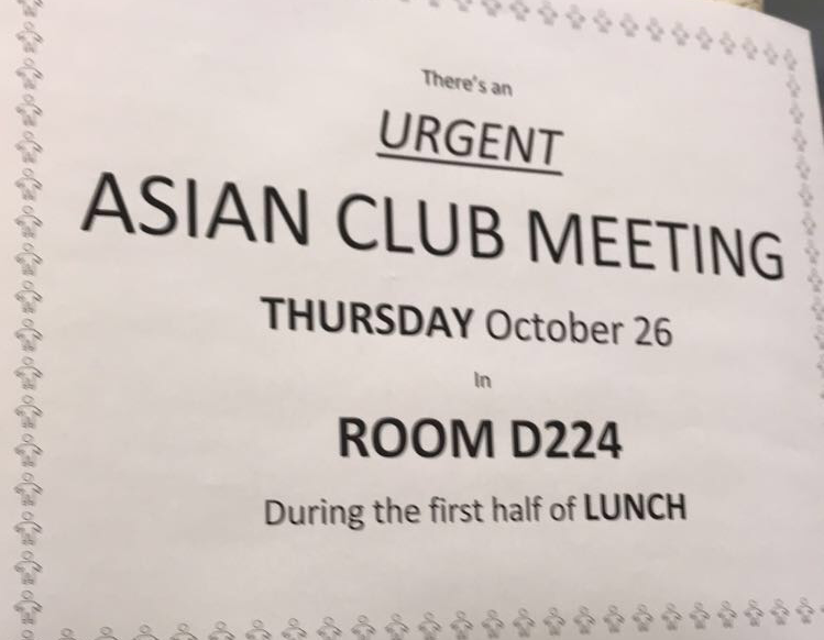 During+a+meeting+on+Oct.+24%2C+the+Asian+Club+announces+that+it+will+be+changing+its+name+to+the+Chinese+and+Asian+Culture+Club.+