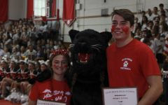 Moral support from The Glen Rock Panther.