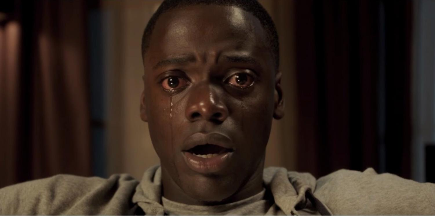 "The infamous image from the film ""Get Out."" Controversy stirred after the movie was nominated for Best Comedy or Musical."
