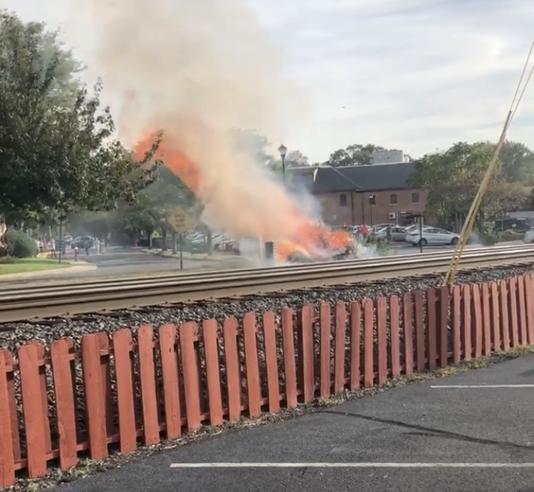 Mysterious train causes small fire