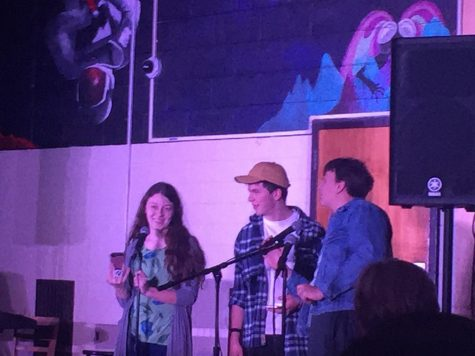 Emcees Madie Jones, Luke Blomstrom, and James O