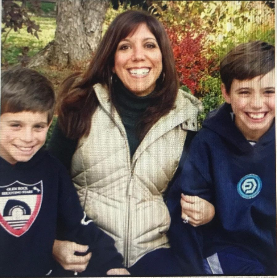 Rochelle Randazzo, CEO of Randazzo's sauces, sits with her sons Ty and Jack Randazzo.