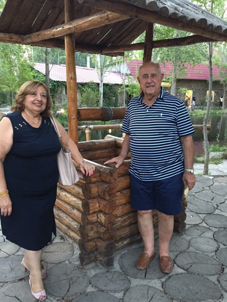 Elise Tossounian (left) and Garbis Tossounian (right) are pictured in Yerevan, Armenia.