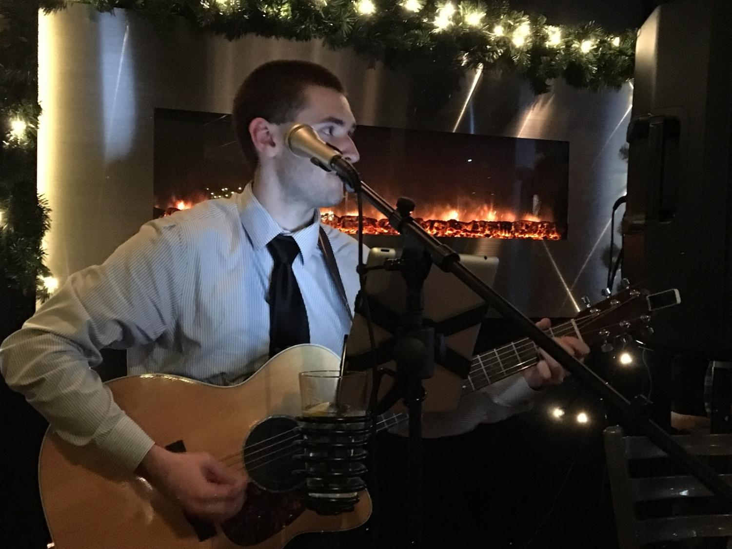"Matthew Rief plays ""Folsom Prison Blues"" by Johnny Cash at the Steel Wheel Tavern in Ridgewood, New Jersey. Photo credit: Julia Piermatteo"