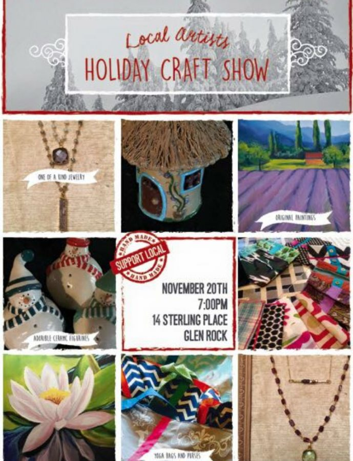 A flyer for one of Barbra's pottery showcases. Multiple times per year, Barbra invites her professional friends of different art mediums for one collective art showcase.