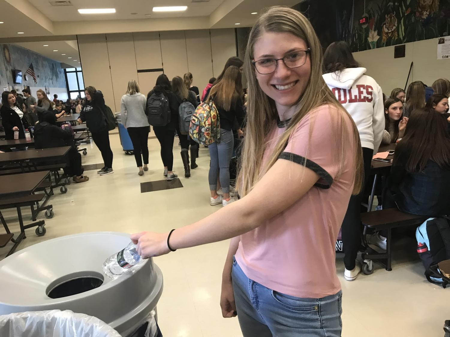 Lizzie Hoyt makes sure to recycle on a daily basis. She realized a problem with the recycling system in the high school, and decided to create change through her Gold Award.