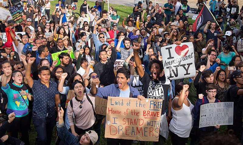 Americans band together to protest the lack of government action to protect Dreamers. DACA is program that protects immigrants who were brought into the country illegally as children.
