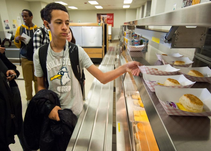 Students that buy lunch have few options and could eat the same the thing every year.