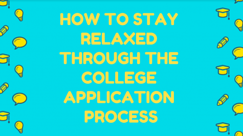 How to stay relaxed through the college application process