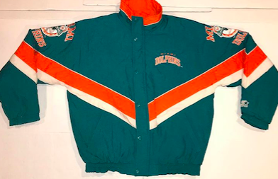 Starter+ProLine+Color+Blocked+Miami+Dolphins+Down+Jacket%0ASize+large%0A%2440