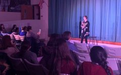 Students perform at Moth Story Slam