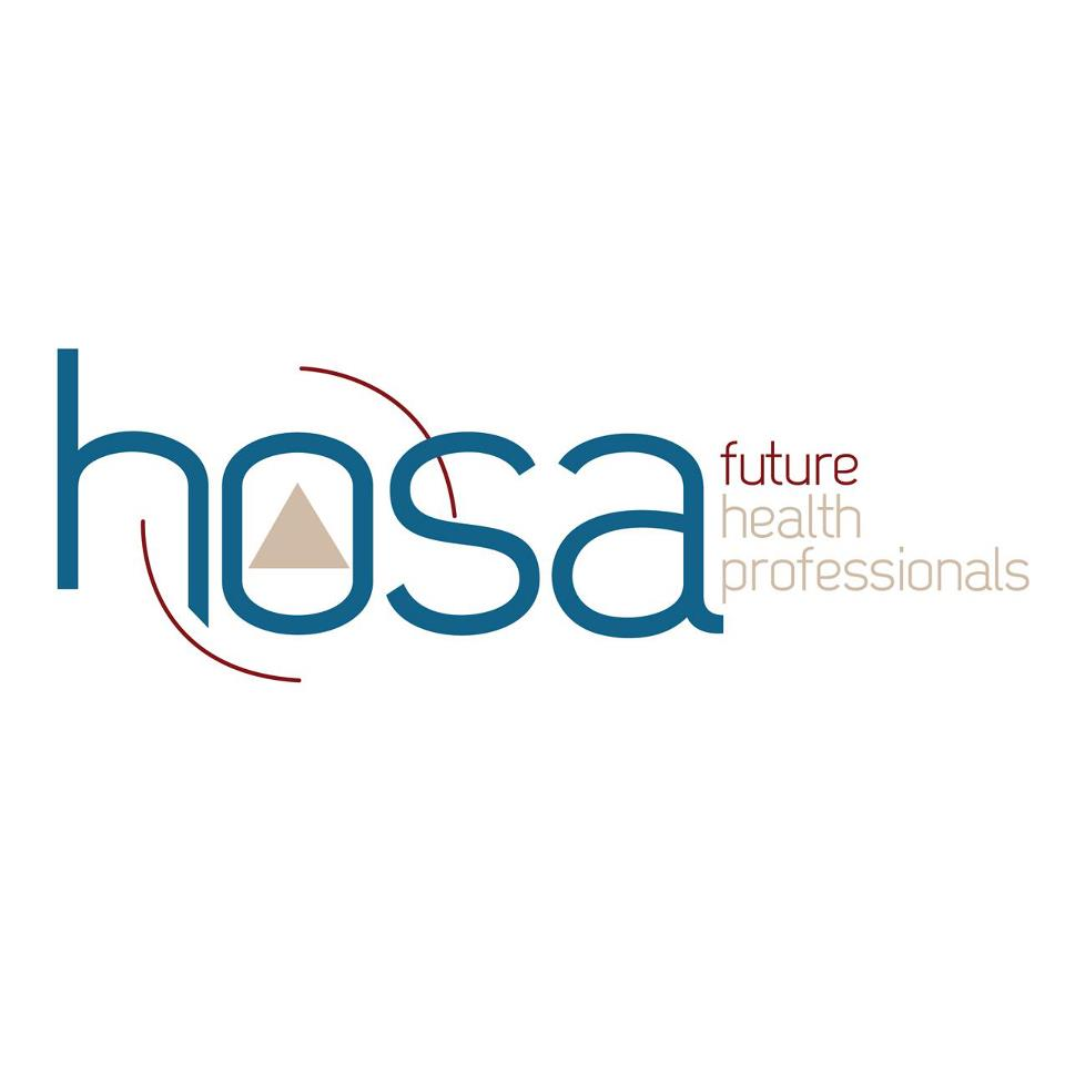 This is the logo for HOSA. It stands for  Future Health Professionals, formerly known as Health Occupations Students of America.
