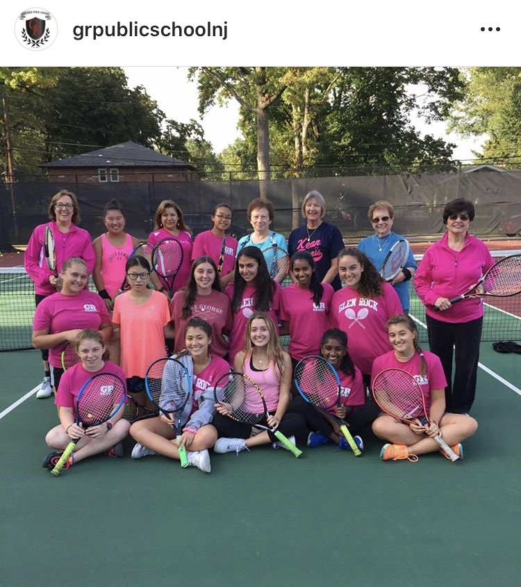 A+photo+taken+from+the+Instagram+page%2C+%40grpublicschoolnj.+Pictured+here+is+the+girls+tennis+team+at+the+%22Tennis+for+Life%22+event.+