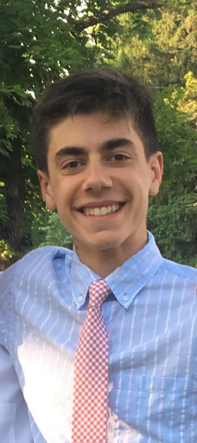 Connor posing for a picture at the 2019 sophomore semi formal