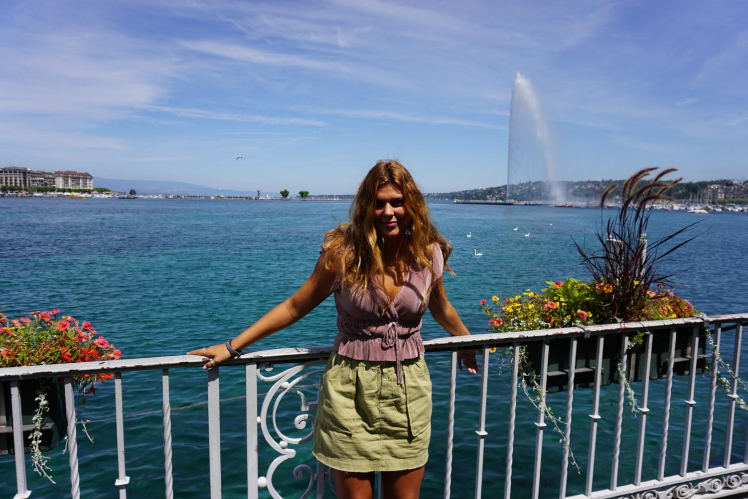 Emma Shiels poses in Annecy, France