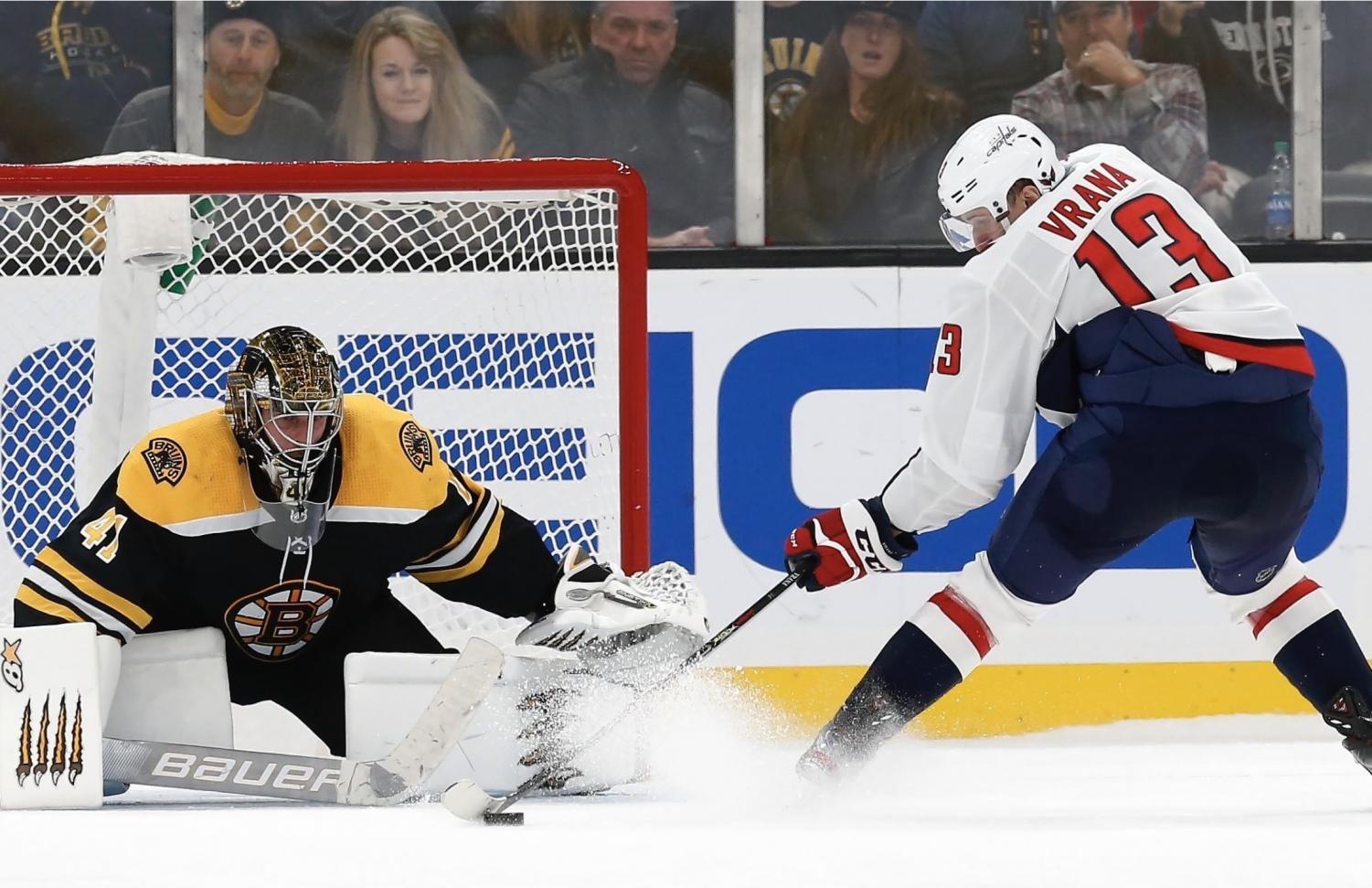 Washington Capitals forward, Jakub Vrana scores beatiful shootout goal to defeat the Boston Bruins on October, 16.