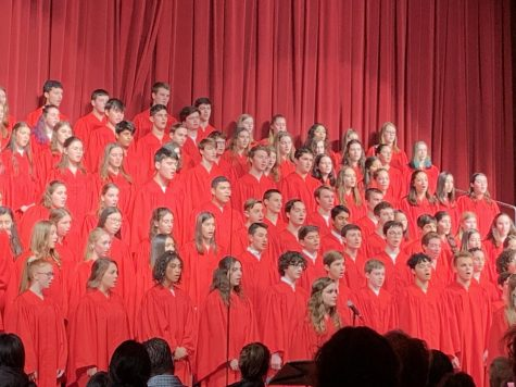 Students in the Concert Choir perform as the finale of the Winter Concert.