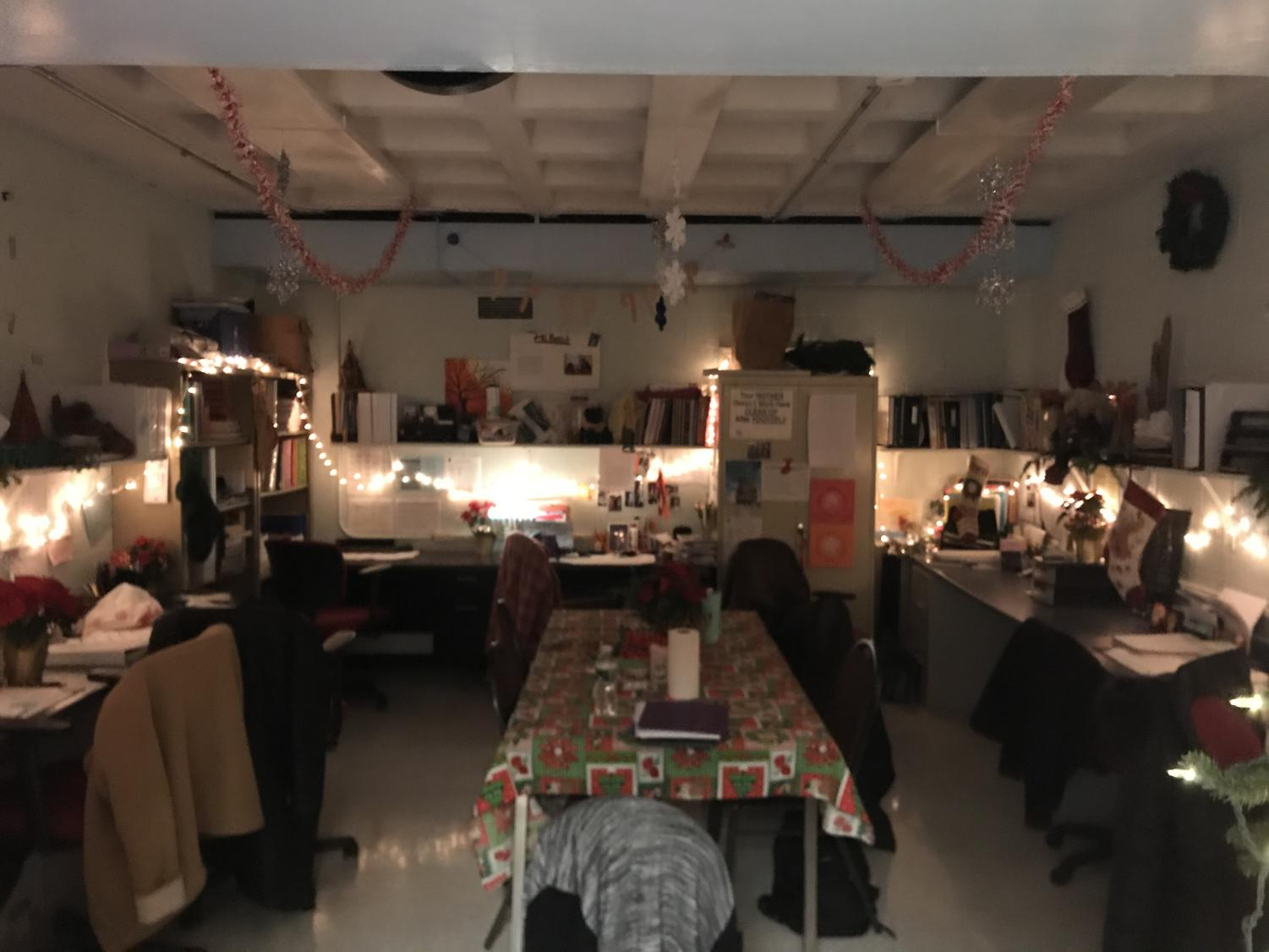 The+inside+of+the+Special+Education+office%2C+lights+had+been+hung+under+the+bookshelf+for+more+holiday+spirit.
