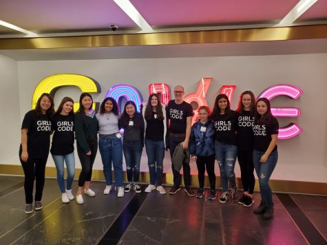 Girls Who Code go to Google for the day!