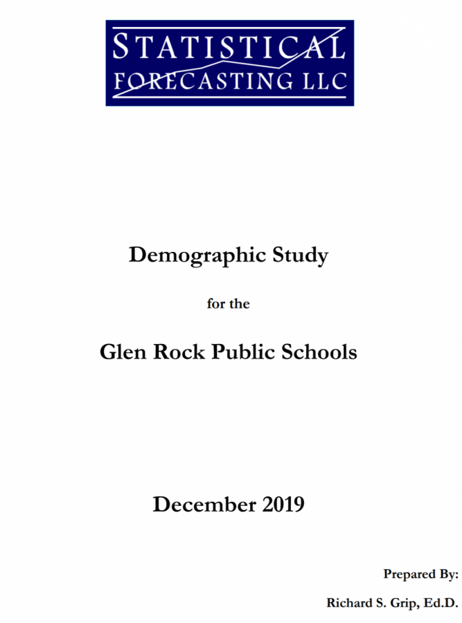 The front page of the demographic study created by Dr. Richard S. Grip.