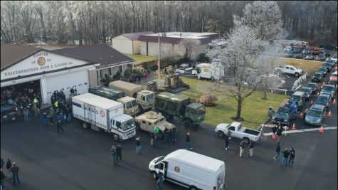 Closter Fire Department rally and distribution location for all local PBA toy drives pictured last winter.