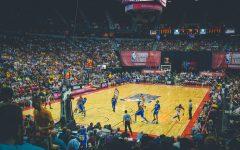 NBA Summer League game being played at Thomas & Mack Center, Las Vegas, United States.