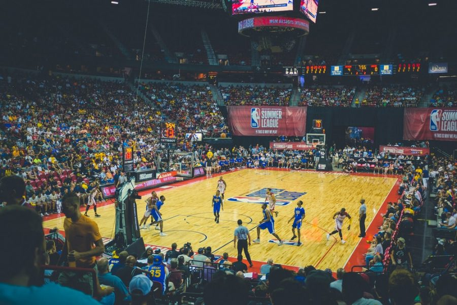 NBA Summer League game being played at Thomas & Mack Center, Las Vegas, United States.